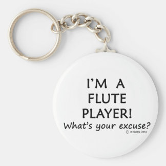Flute Player Excuse Key Chains