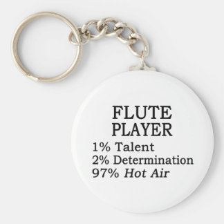 Flute Player Hot Air Keychain