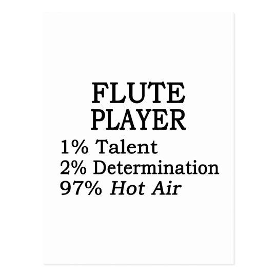 Flute Player Hot Air Postcard