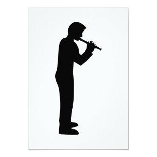 "Flute player 3.5"" x 5"" invitation card"