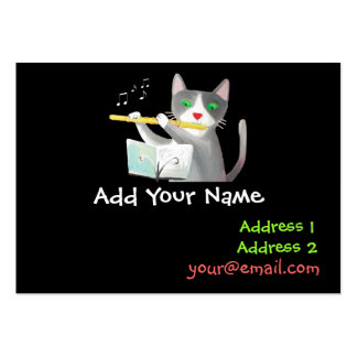 flute player large business card