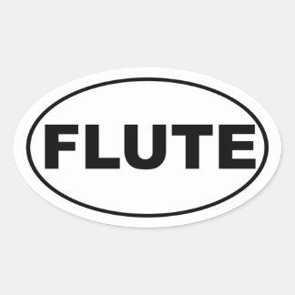 Flute Player Oval Sticker