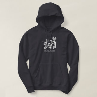 Flute Player Petroglyph Hoodie