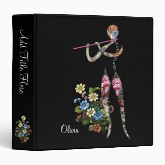 Flute Player Serenades a Garden Binder