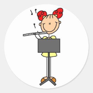 Flute Player Stickers Sticker