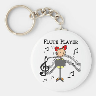 Flute Player T-shirts and Gifts Keychain