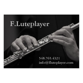 flute player's hands on flute large business card