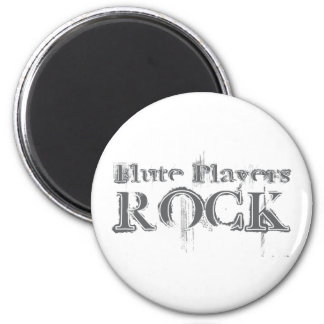 Flute Players Rock 2 Inch Round Magnet