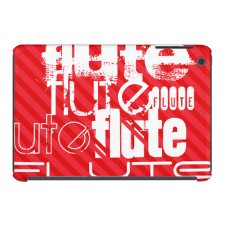 Flute; Scarlet Red Stripes iPad Mini Covers