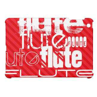Flute; Scarlet Red Stripes Cover For The iPad Mini