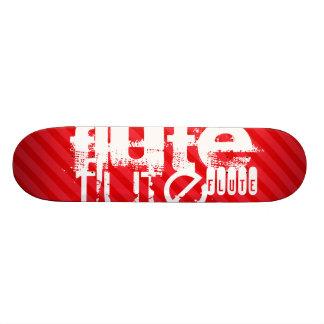 Flute; Scarlet Red Stripes Skateboard