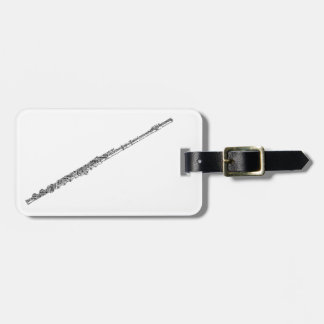 Flute Shaped Word Art Black Text Luggage Tag