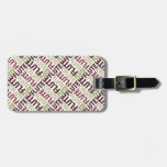 Flute Text Tag For Luggage