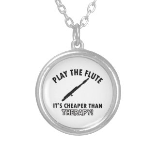 flute  therapy design necklace