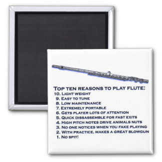 Flute Top 10 2 Inch Square Magnet