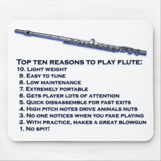 Flute Top 10 Mouse Pad
