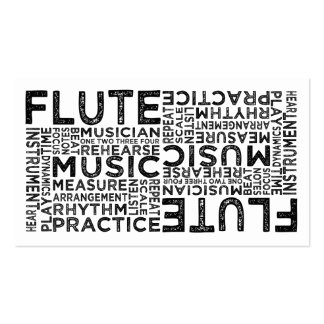 Flute Typography Double-Sided Standard Business Cards (Pack Of 100)