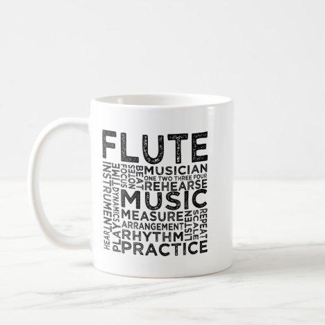Flute Typography Coffee Mug