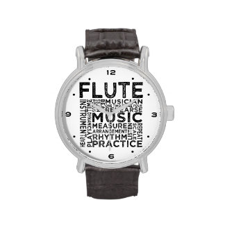 Flute Typography Wristwatches
