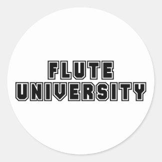 Flute University Classic Round Sticker