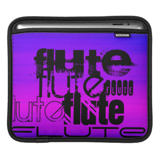 Flute; Vibrant Violet Blue and Magenta Sleeve For iPads