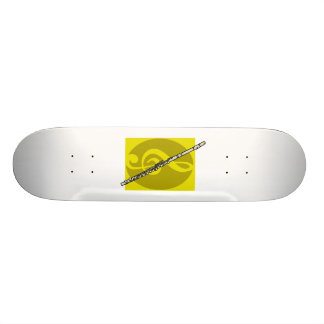 Flute with yellow treble clef design image skateboard
