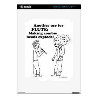 Flute Zombie Explode iPad 3 Decal