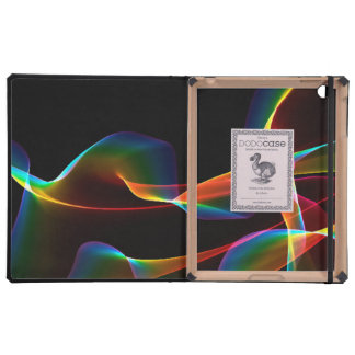 Fluted Cosmic Rainbow, Abstract Winds Covers For iPad
