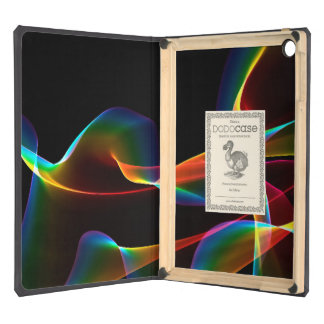 Fluted Cosmic Rainbow, Abstract Winds Cover For iPad Air