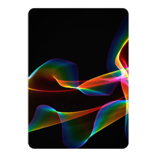 """Fluted Cosmic Rainbow, Abstract Winds 5"""" X 7"""" Invitation Card"""