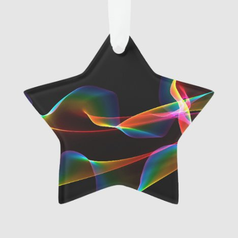 Fluted Cosmic Rainbow, Abstract Winds Ornament