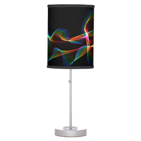 Fluted Cosmic Rainbow, Abstract Winds Table Lamp