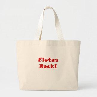 Flutes Rock Large Tote Bag