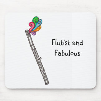 Flutist and Fabulous Mousepad