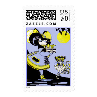 Flutist and the Monkey Postage