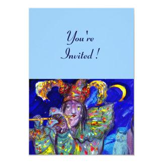 FLUTIST IN BLUE CARD