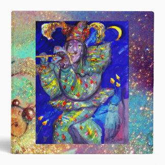 FLUTIST IN BLUE / Venetian Carnival Night Binder