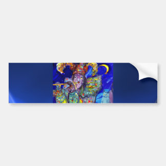 FLUTIST IN BLUE / Venetian Carnival Night Bumper Sticker