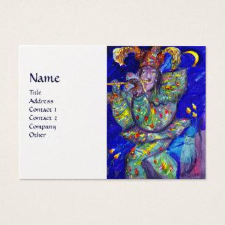 FLUTIST IN BLUE / Venetian Carnival Night Business Card