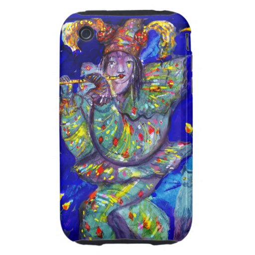 FLUTIST IN BLUE / Venetian Carnival Night Tough iPhone 3 Cover