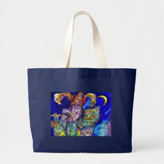 FLUTIST IN BLUE / Venetian Carnival Night Large Tote Bag