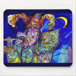 FLUTIST IN BLUE / Venetian Carnival Night Mouse Pad