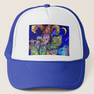 FLUTIST IN BLUE / Venetian Carnival Night Trucker Hat
