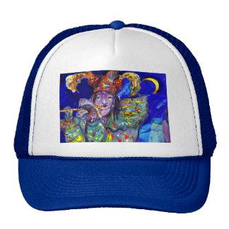 FLUTIST IN BLUE / Venetian Carnival Night Trucker Hat