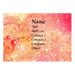 FLUTIST,<pink,fuchsia,yellow Business Card Template