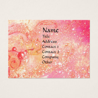 FLUTIST PORTRAIT /Pink,Fuchsia,Yellow Sparkles Business Card