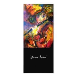 FLUTIST PORTRAIT / Venetian Masquerade Card