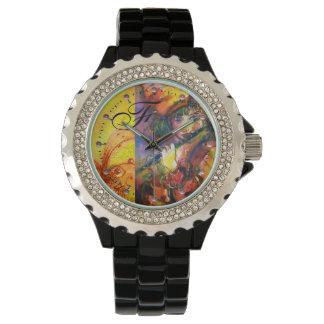 FLUTIST PORTRAIT / Venetian Masquerade Monogram Wristwatch