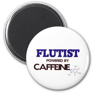 Flutist Powered by caffeine 2 Inch Round Magnet