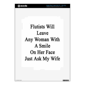 Flutists Will Leave Any Woman With A Smile On Her Decal For iPad 3